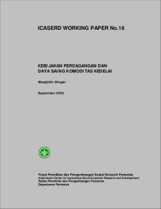 ICASERD WORKING PAPER No.16