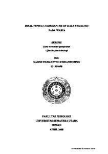 IDEAL-TYPICAL CAREER PATH OF MALE FEMALING PADA WARIA SKRIPSI NAOMI ELISABETH LUMBANTOBING