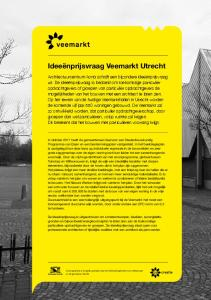 Ideeënprijsvraag Veemarkt Utrecht