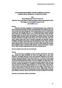 IDENTIFIKASI GERAKAN MASSA TERHADAP KERUSAKAN JALAN RAYA SUKOREJO-WELERI KILOMETER 6-16 KABUPATEN KENDAL