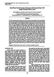 Identifikasi Pola Kerusakan Komponen Kritis pada Mesin EAF dengan Simulasi Monte Carlo