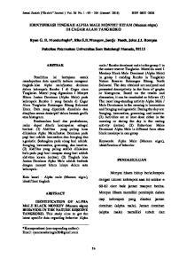 IDENTIFIKASI TINGKAH ALPHA MALE MONYET HITAM (Macaca nigra) DI CAGAR ALAM TANGKOKO