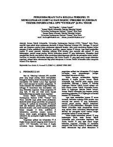 IEC 27002:2005 DI JURUSAN TEKNIK INFORMATIKA UPN VETERAN JAWA TIMUR