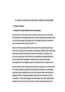 II. TINJAUAN PUSTAKA, KERANGKA PIKIR DAN HIPOTESIS. 1. Pengertian Kondisi Sosial Ekonomi Masyarakat