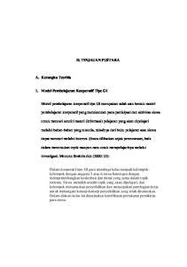 II. TINJAUAN PUSTAKA. untuk mencari sendiri materi (informasi) pelajaran yang akan dipelajari