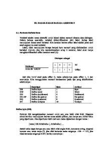 III. DASAR-DASAR BAHASA ASSEMBLY