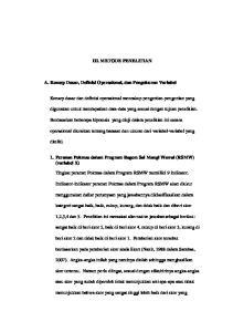 III. METODE PENELITIAN. A. Konsep Dasar, Definisi Operasional, dan Pengukuran Variabel