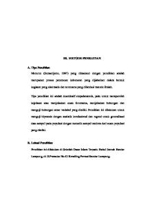 III. METODE PENELITIAN. A. Tipe Penelitian Menurut (Sumardjono, 1997) yang dimaksud dengan penelitian adalah
