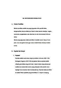 III. METODELOGI PENELITIAN. Metode penelitian adalah cara yang digunakan oleh peneliti dalam