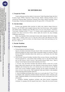 III. METODOLOGI. A. Tempat dan Waktu. B. Alat dan bahan. C. Posedur Penelitian. 1. Perancangan Kemasan
