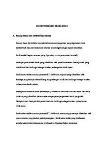 III. METODOLOGI PENELITIAN. Konsep dasar dan definisi operasional mencakup pengertian yang digunakan untuk