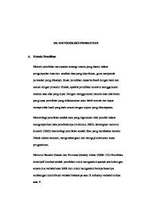III. METODOLOGI PENELITIAN. Metode penelitian merupakan strategi umum yang dianut dalam