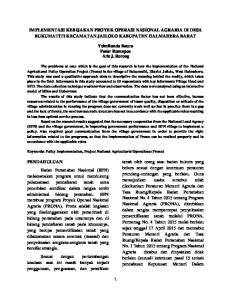 IMPLEMENTASI KEBIJAKAN PROYEK OPERASI NASIONAL AGRARIA DI DESA BUKUMATITI KECAMATAN JAILOLO KABUPATEN HALMAHERA BARAT