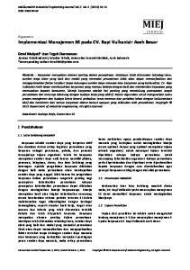 Implementasi Manajemen 5S pada CV. Rapi Vulkanisir Aceh Besar
