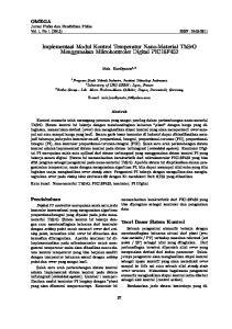 Implementasi Modul Kontrol Temperatur Nano-Material ThSrO Menggunakan Mikrokontroler Digital PIC18F452