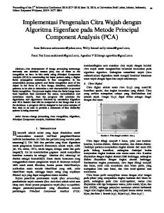 Implementasi Pengenalan Citra Wajah dengan Algoritma Eigenface pada Metode Principal Component Analysis (PCA)