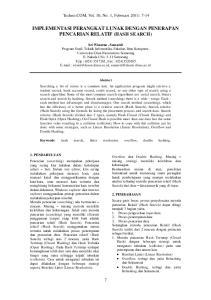IMPLEMENTASI PERANGKAT LUNAK DENGAN PENERAPAN PENCARIAN RELATIF (HASH SEARCH)