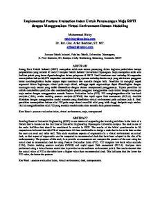 Implementasi Posture Evaluation Index Untuk Perancangan Meja RBTI dengan Menggunakan Virtual Environment Human Modelling