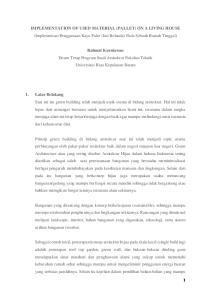 IMPLEMENTATION OF USED MATERIAL (PALLET) ON A LIVING HOUSE (Implementasi Penggunaan Kayu Palet (Jati Belanda) Pada Sebuah Rumah Tinggal)