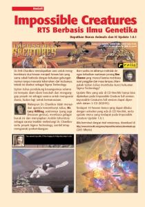 Impossible Creatures. RTS S Berbasis Ilmu Genetika. NeoSoft. Dapatkan Bonus Animals dan IC Update 1.0.1