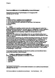 In bovengenoemd kader bespreken we hieronder de posities van de betrokkenen bij de postdoctorale opleiding tot psychotherapeut