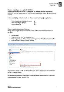 In deze beschrijving vind je informatie om Firefox zo optimaal mogelijk te gebruiken: