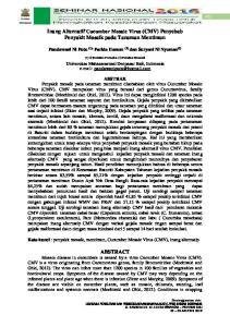 Inang Alternatif Cucumber Mosaic Virus (CMV) Penyebab Penyakit Mosaik pada Tanaman Mentimun