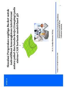 indentifikasi kemungkinan interferensi antara pahat dan benda-kerja (Gouging) pada