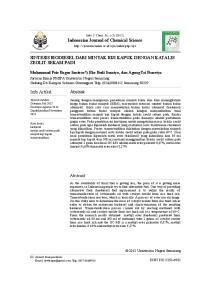 Indonesian Journal of Chemical Science SINTESIS BIODIESEL DARI MINYAK BIJI KAPUK DENGAN KATALIS ZEOLIT SEKAM PADI