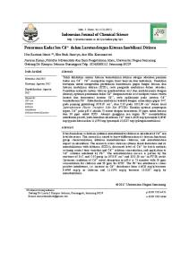 Indonesian Journal of Chemical Science