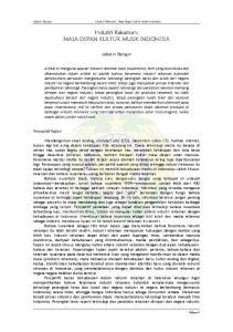 Industri Rekaman: MASA DEPAN KULTUR MUSIK INDONESIA