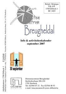 Info & activiteitenkalender september 2007
