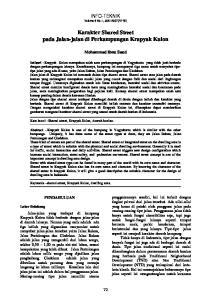 INFO-TEKNIK Volume 8 No.1, JULI 2007(72-79) Karakter Shared Street pada Jalan-jalan di Perkampungan Krapyak Kulon
