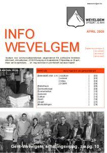INFO WEVELGEM. Gent-Wevelgem, schiftingsvraag, zie pg. 101 APRIL [ Afgiftekantoor Wevelgem 1] [ GULLEGEM ] [ MOORSELE ] [ WEVELGEM ]
