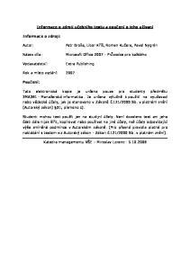 Informace o zdroji učebního textu a poučení o jeho užívaní. Petr Broža, Libor Kříž, Roman Kučera, Pavel Nygrýn