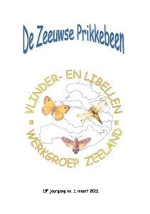 Informatie over de Vlinder- en Libellenwerkgroep Zeeland