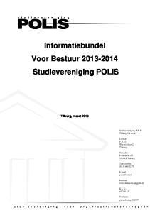 Informatiebundel Voor Bestuur Studievereniging POLIS