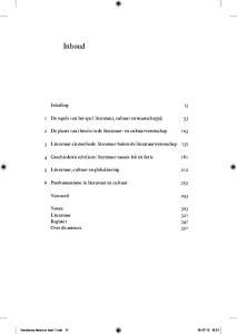 Inhoud. Inleiding De regels van het spel: literatuur, cultuur en maatschappij 53
