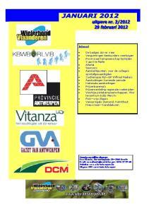 Inhoud. RVA vrijwilligers Vanspringels diamond, Kalmthout Nieuwmoer kandidaturen