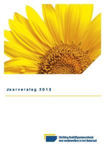 Inhoudsopgave. Jaarverslag 2013