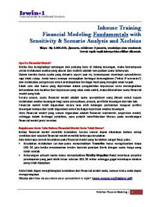 Inhouse Training Financial Modeling Fundamentals with Sensitivity & Scenario Analysis and Xcelsius