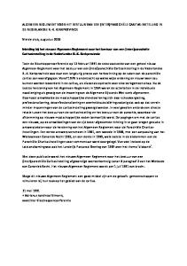 Inleiding bij het nieuwe Algemeen Reglement voor het bestuur van een (inter)parochiële Caritasinstelling in de Nederlandse R.-K