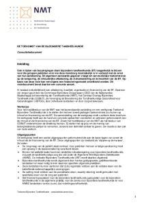 Inleiding DE TOEKOMST VAN DE BIJZONDERE TANDHEELKUNDE. Consultatiedocument