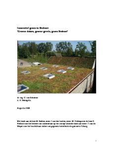 Innovatief groen in Brabant: Groene daken, groene gevels, groen Brabant