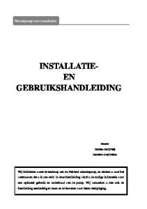 INSTALLATIE- EN GEBRUIKSHANDLEIDING