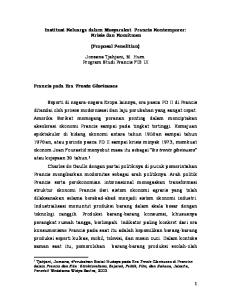 Institusi Keluarga dalam Masyarakat Prancis Kontemporer: Krisis dan Komitmen. (Proposal Penelitian)