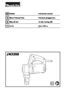 Instruction manual น ปเป ล ค ม อการใช งาน JN3200