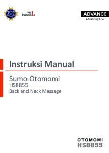 Instruksi Manual. Sumo Otomomi HS8855. Back and Neck Massage