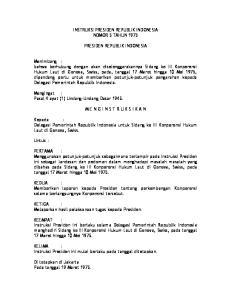 INSTRUKSI PRESIDEN REPUBLIK INDONESIA NOMOR 5 TAHUN 1975 PRESIDEN REPUBLIK INDONESIA