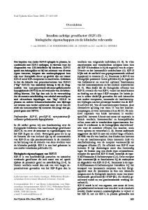 Insuline-achtige groeifactor (IGF)-II: biologische eigenschappen en de klinische relevantie